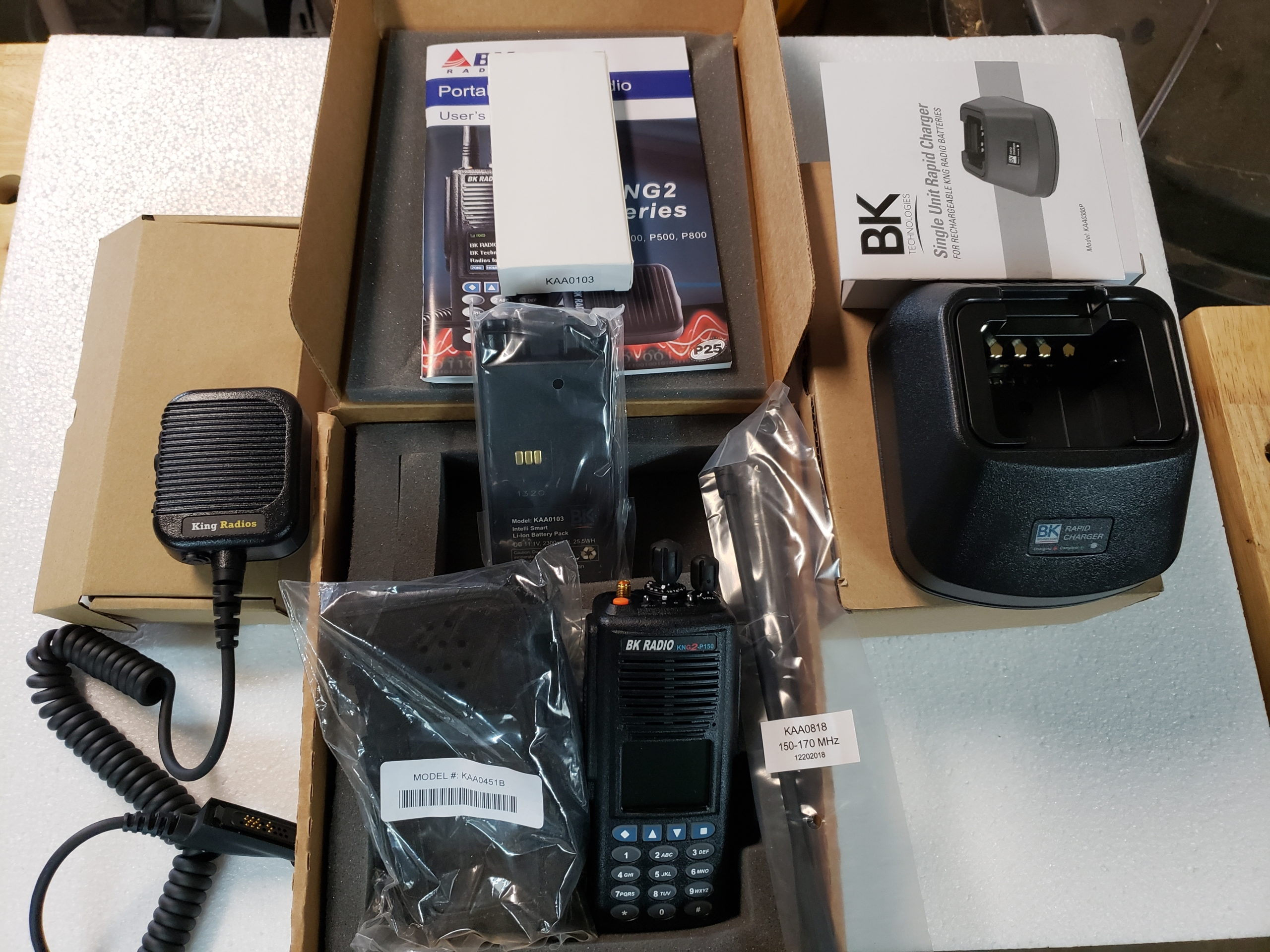 King Radios KNG2 Package
